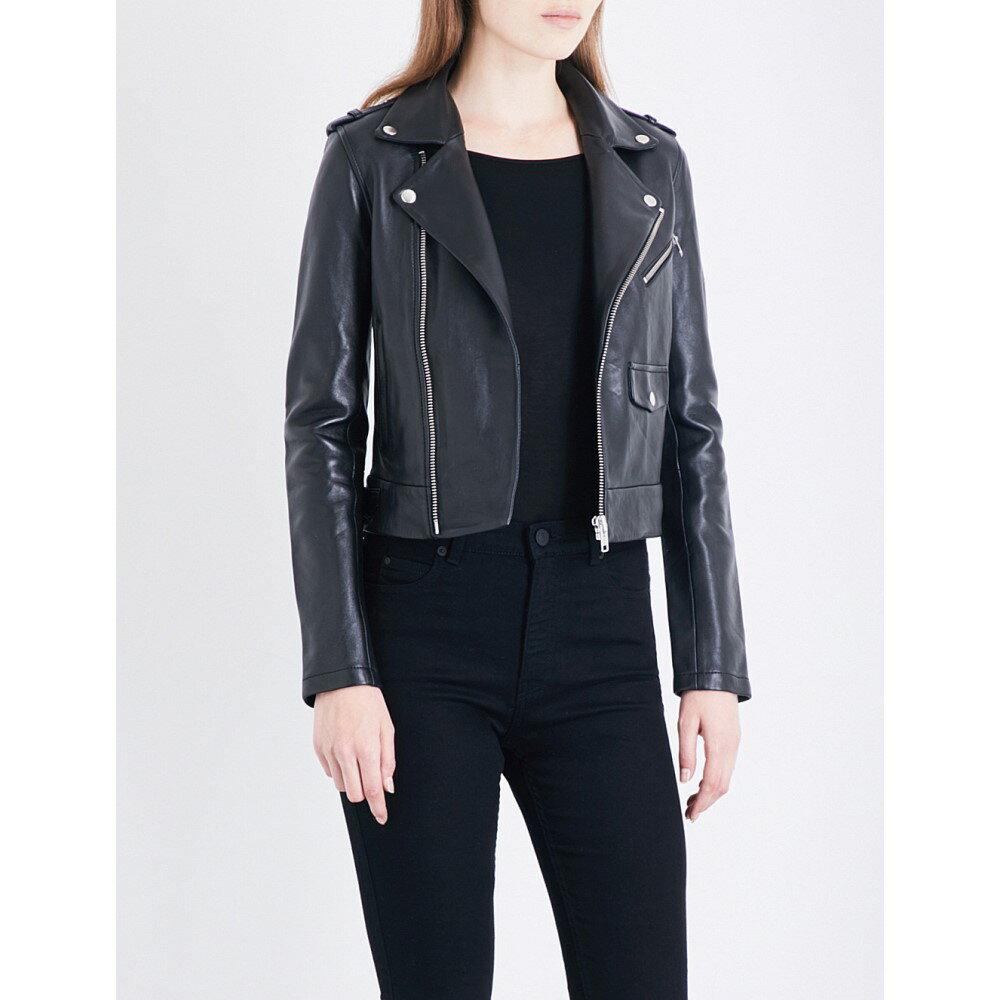 マージュ maje レディース アウター レザージャケット【baltika leather biker jacket】Black