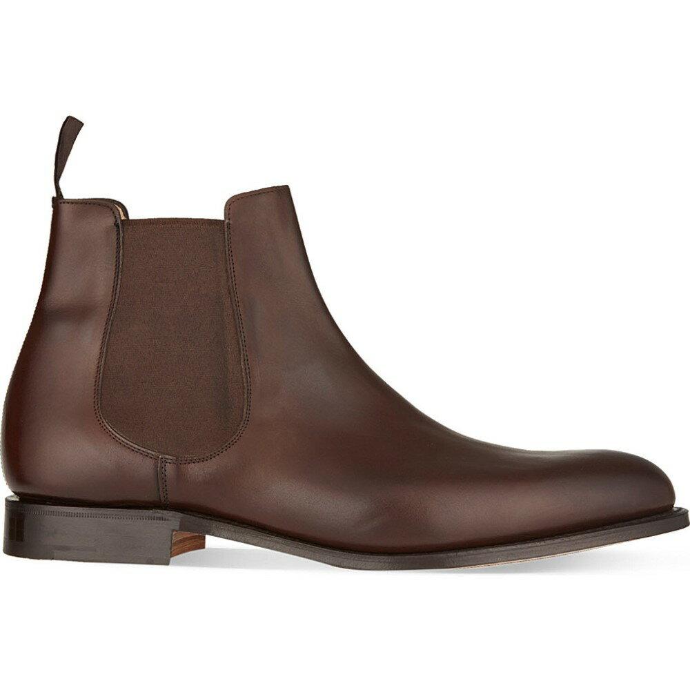 チャーチ church メンズ シューズ・靴 ブーツ【houston leather chelsea boots】Dark brown