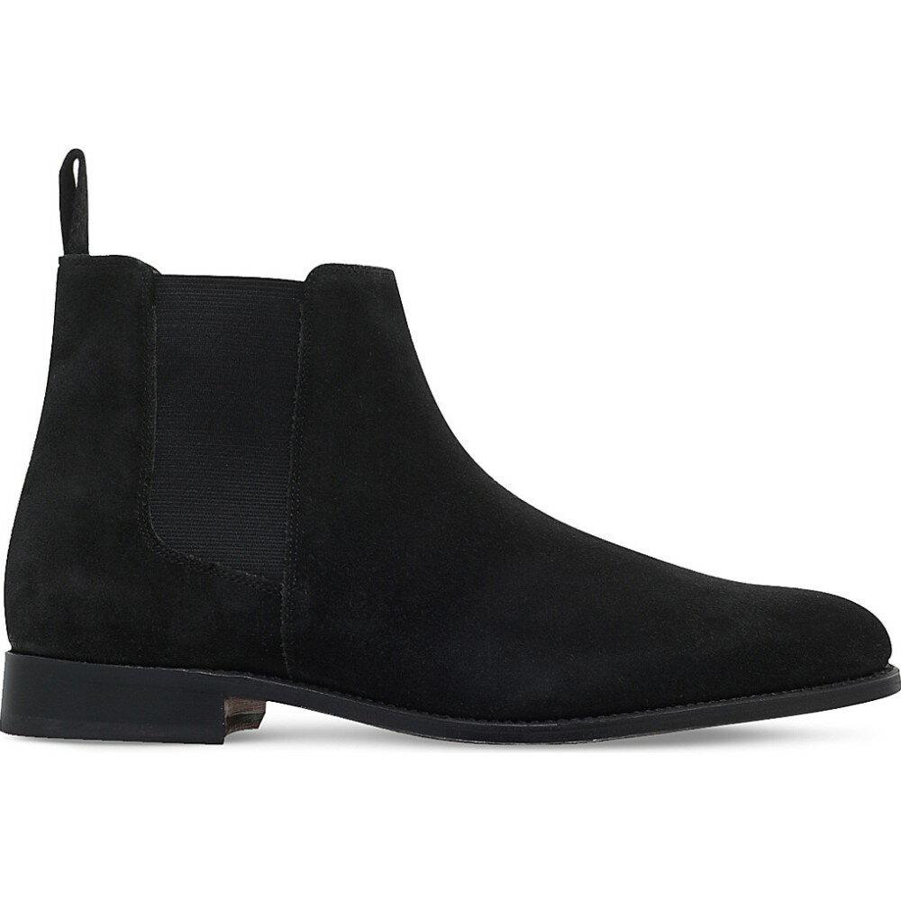 グレンソン grenson メンズ シューズ?靴 ブーツ【declan suede chelsea boots】Black
