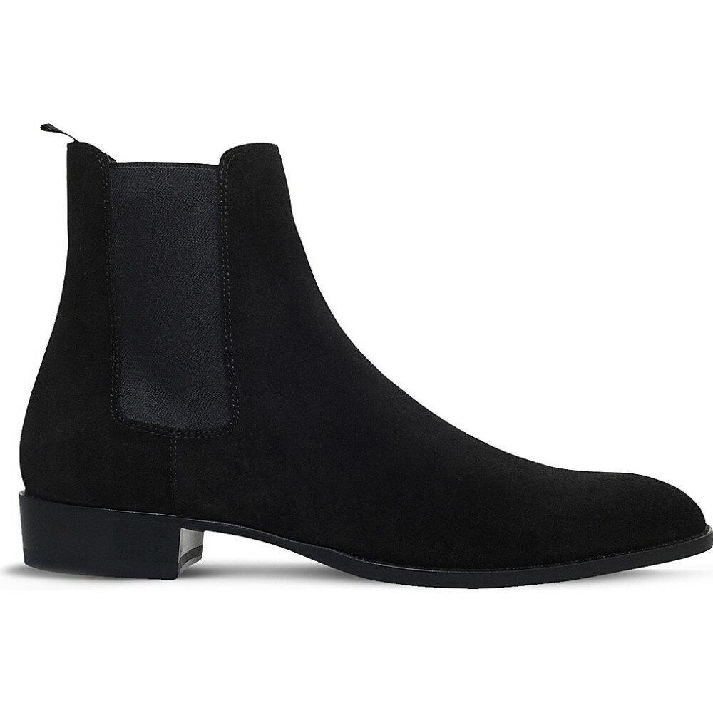 イヴ サンローラン saint laurent メンズ シューズ?靴 ブーツ【wyatt suede chelsea boots】Black