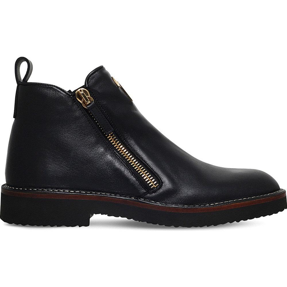 ジュゼッペ ザノッティ giuseppe zanotti メンズ シューズ?靴 ブーツ【austin double-zip leather boots】Black