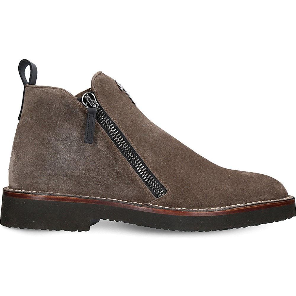 ジュゼッペ ザノッティ giuseppe zanotti メンズ シューズ?靴 ブーツ【austin double-zip leather boots】Brown