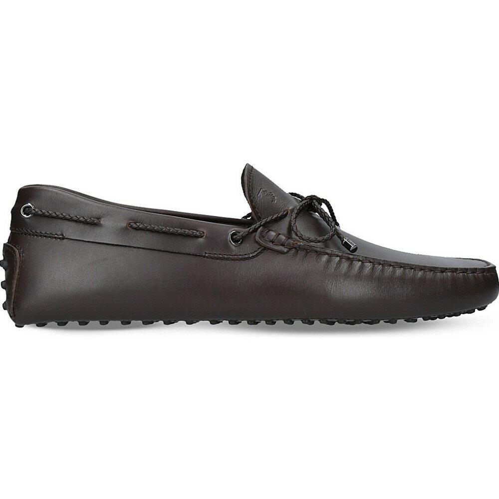 トッズ tods メンズ シューズ・靴 ドライビングシューズ【scooby doo leather driving shoes】Brown