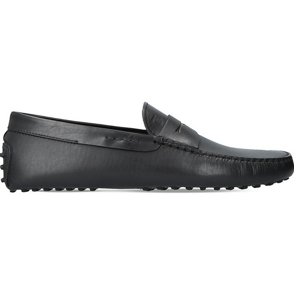 トッズ tods メンズ シューズ・靴 ドライビングシューズ【penny slip-on leather driver shoes】Black