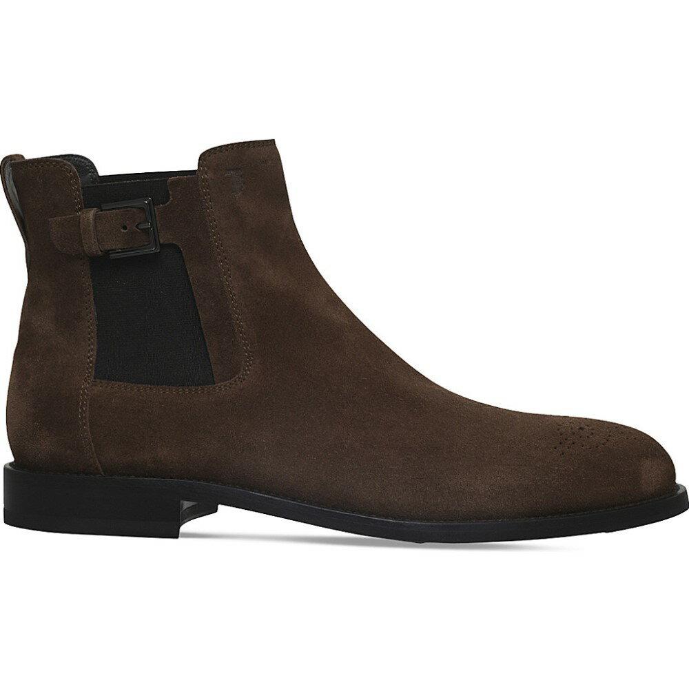 トッズ tods メンズ シューズ・靴 ブーツ【suede chelsea boots】Tan