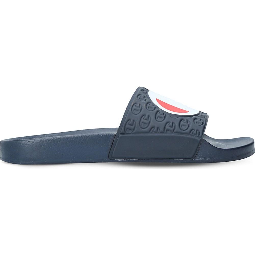 チャンピオン champion メンズ シューズ・靴 サンダル【logo rubber pool slides】Navy