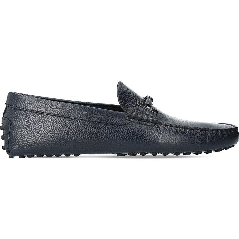 トッズ tods メンズ シューズ・靴 ドライビングシューズ【covered double t leather driving shoes】Navy