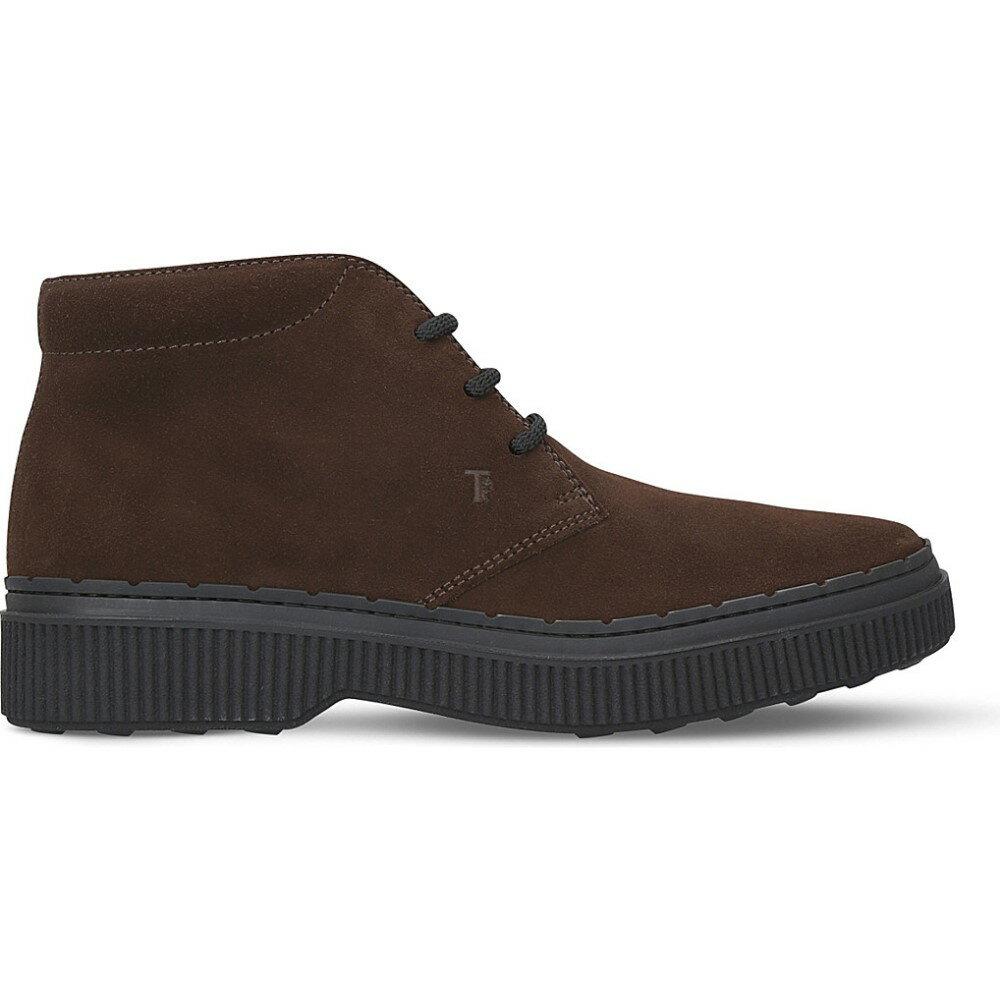 トッズ tods メンズ シューズ・靴 ブーツ【nwg suede chukka boots】Brown