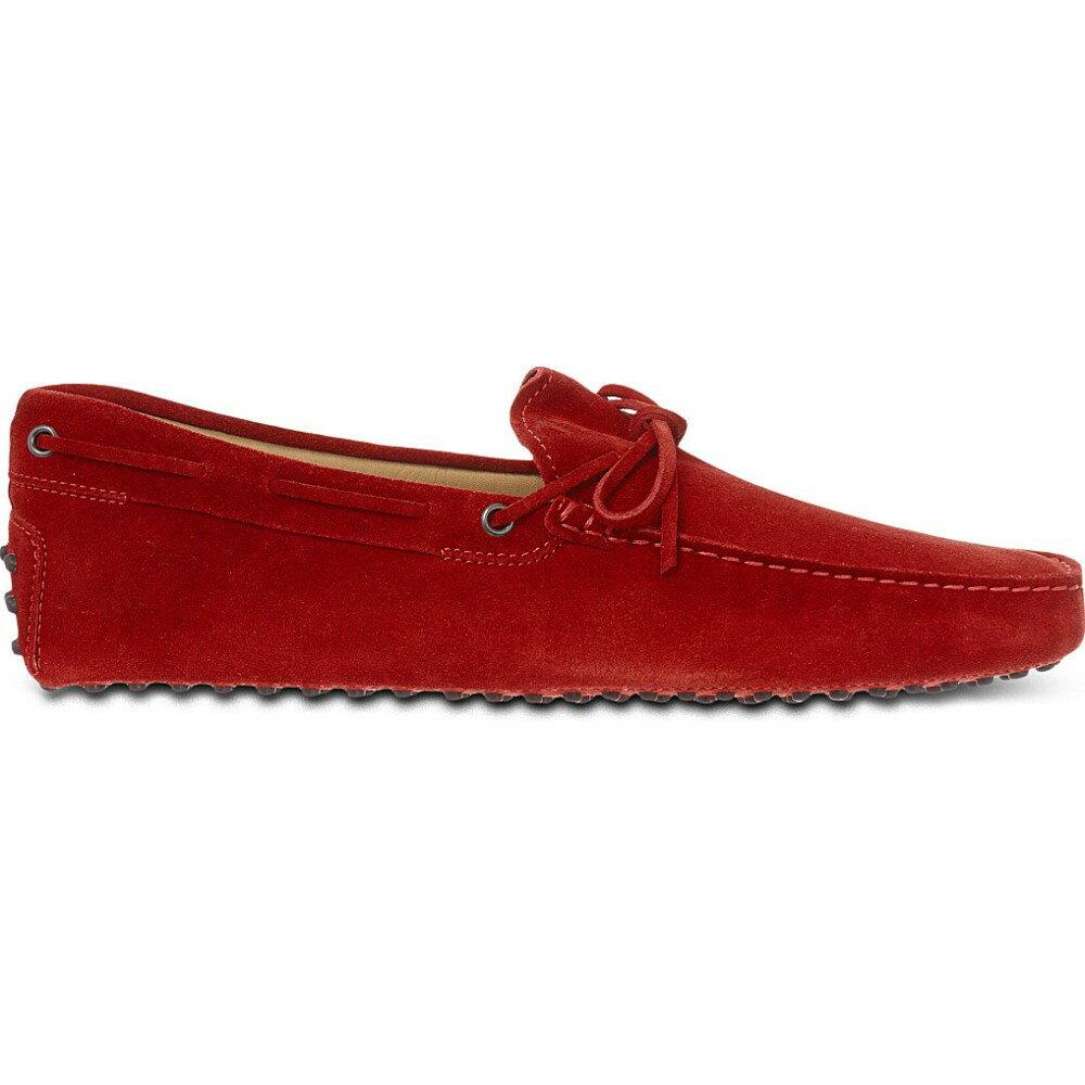 トッズ tods メンズ シューズ・靴 ドライビングシューズ【gommino heaven driving shoes in suede】Red