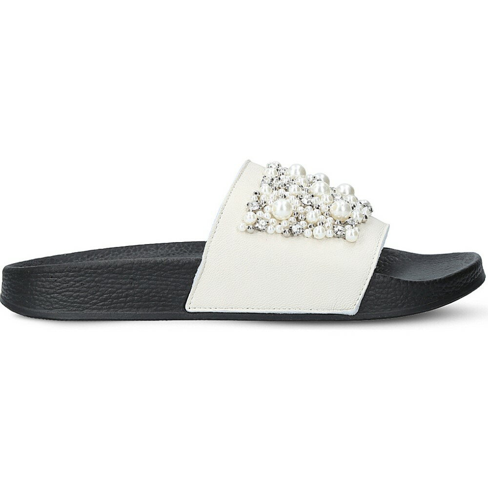 カーベラ carvela レディース シューズ・靴 サンダル・ミュール【kirsty leather embellished sliders】White