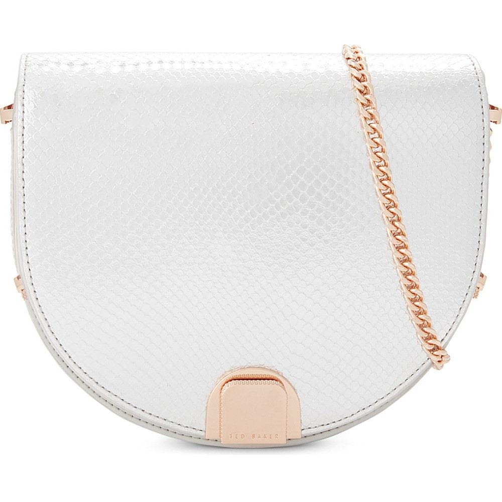テッドベーカー ted baker レディース バッグ ショルダーバッグ【annii mini leather moon shaped bag】Light grey