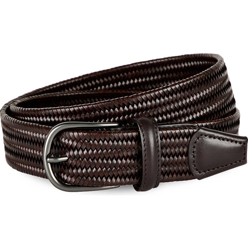 アンダーソンズ andersons メンズ ファッション小物 ベルト【woven leather belt】Olive