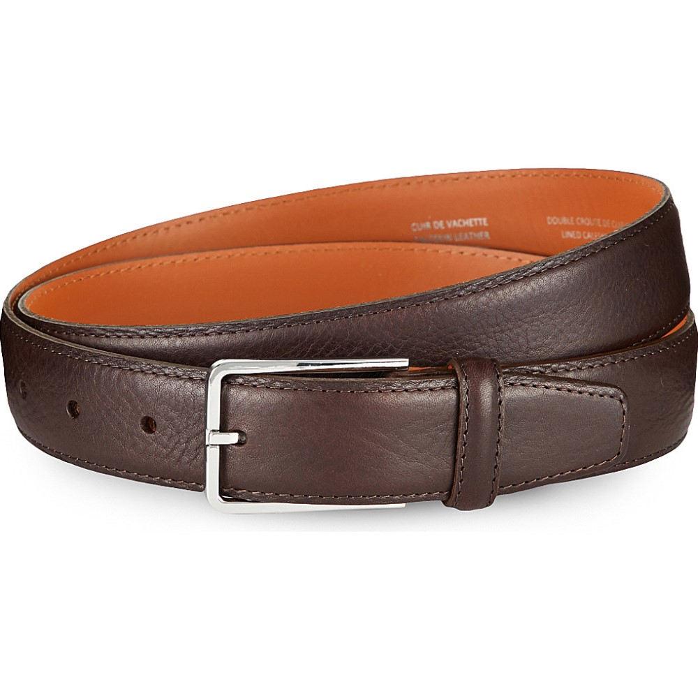 サンドロ sandro メンズ ファッション小物 ベルト【leather square loop belt】Brown
