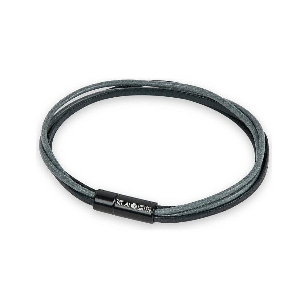タテオシアン メンズ ジュエリー・アクセサリー ブレスレット【multi-strand leather and cord bracelet】Black