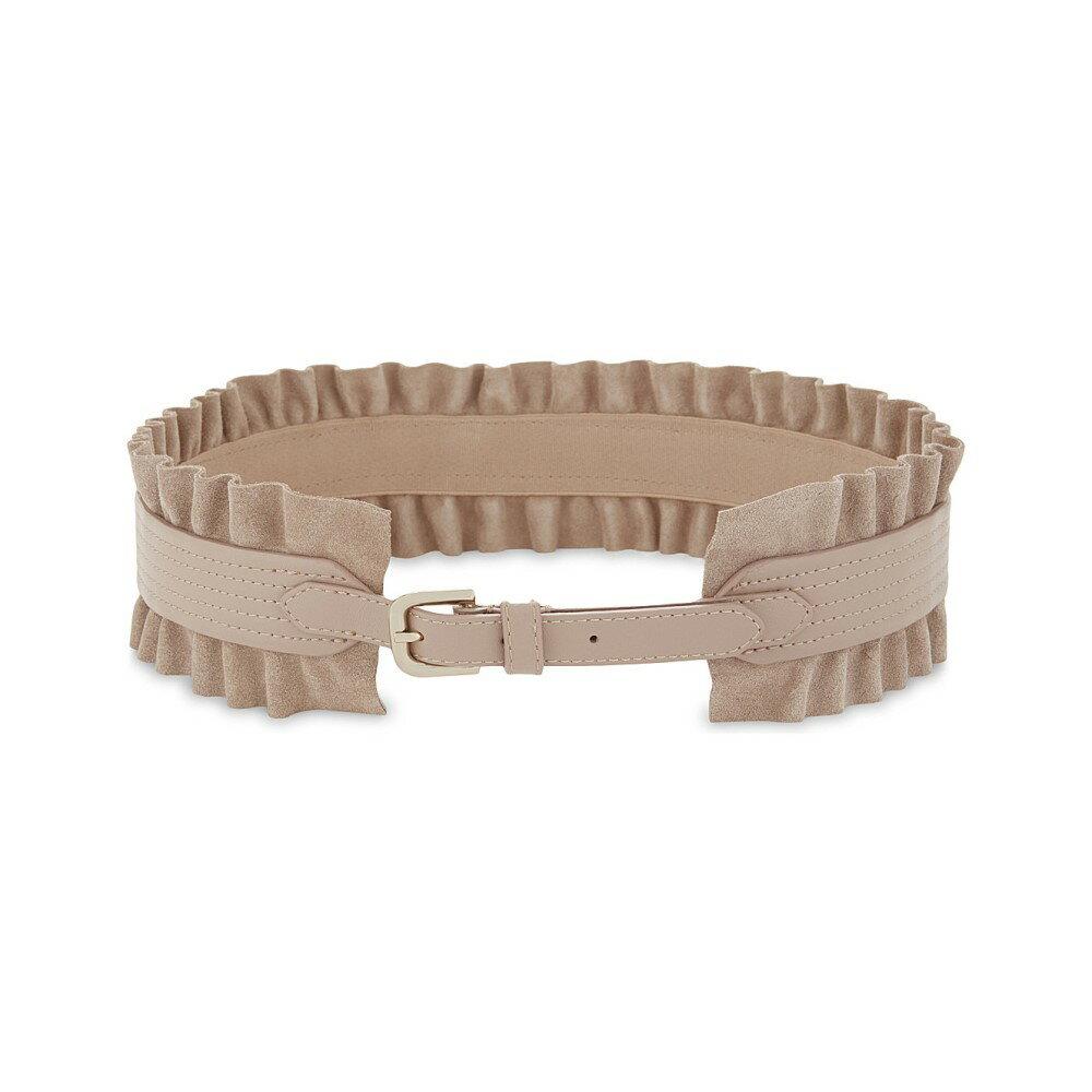 リース レディース ベルト【tilda wide ruffle leather belt】Blush
