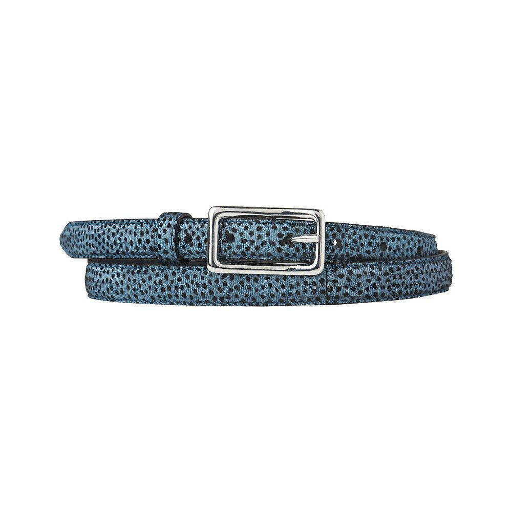 エルケーベネット レディース ベルト【glenda textured-leather belt】Blu-powder blue