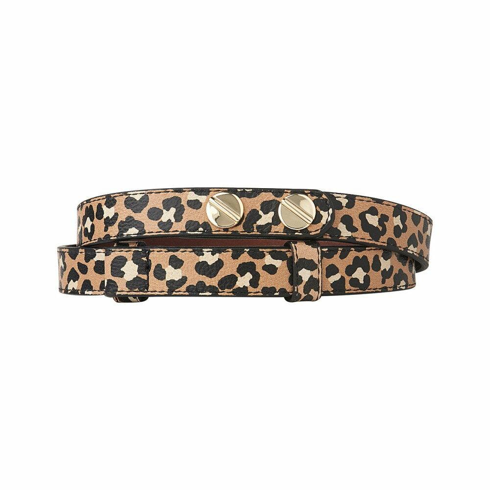 エルケーベネット レディース ベルト【zahara buttoned leather belt】Pri-animal