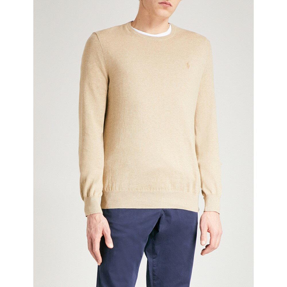 ラルフ ローレン メンズ トップス ニット・セーター【logo-embroidered slim-fit knitted jumper】Expedition dune heather