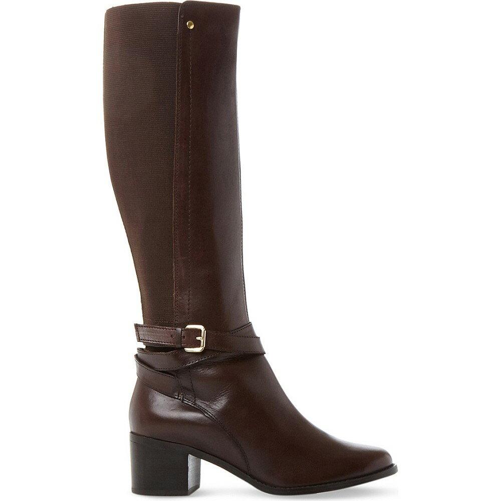 デューン dune レディース シューズ・靴 ブーツ【vivv stretch panel knee-high leather boots】Brown-leather