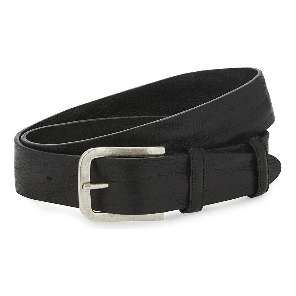 エリオットローズ elliot rhodes メンズ アクセサリー ベルト【textured-leather belt】Black