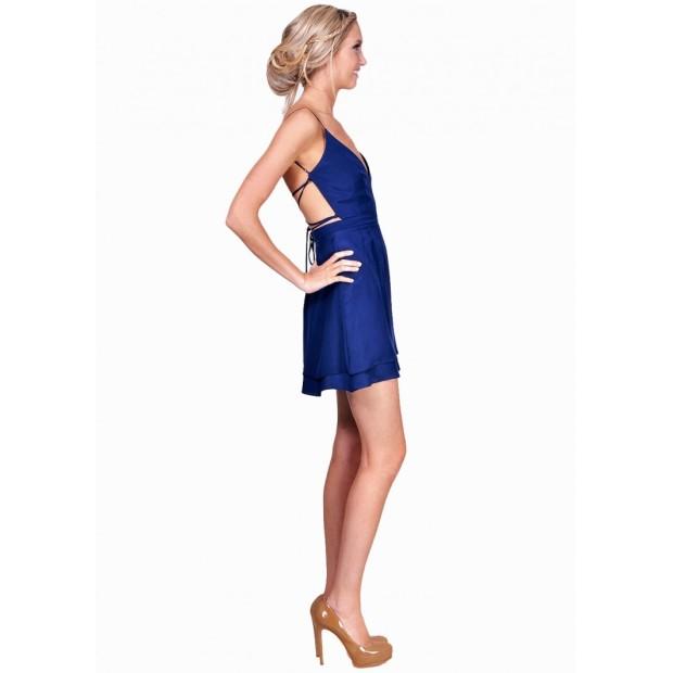 ジェニファー ホープ Jennifer Hope レディース ドレス カジュアルドレス【Serena Bare Back Sweeteart Dress】NAVY