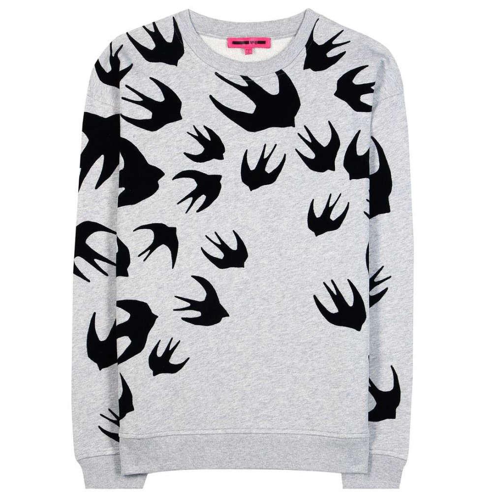アレキサンダー マックイーン McQ Alexander McQueen レディース トップス トレーナー【Printed cotton-blend sweater】