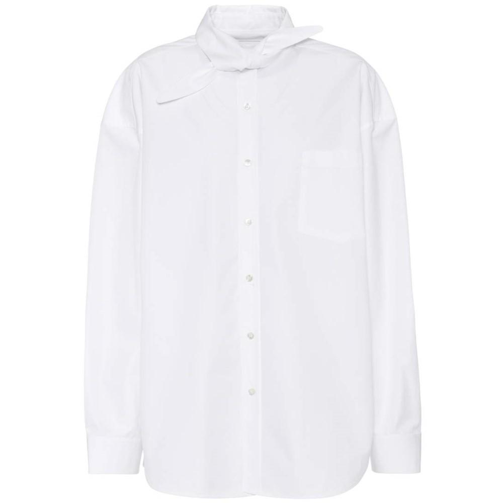 バレンシアガ Balenciaga レディース トップス カジュアルシャツ【Cotton elongated collar shirt】