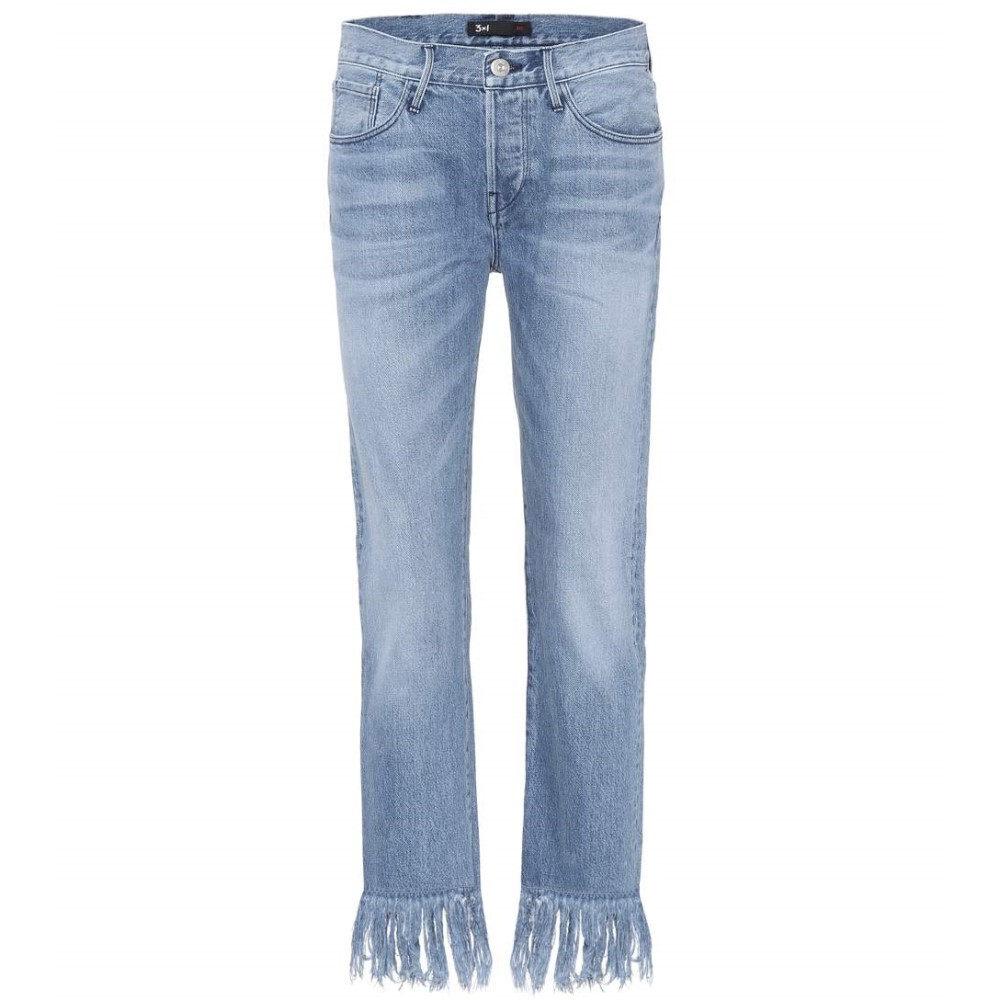 スリー バイ ワン 3x1 レディース ボトムス ジーンズ【WM3 Crop Fringe denim jeans】