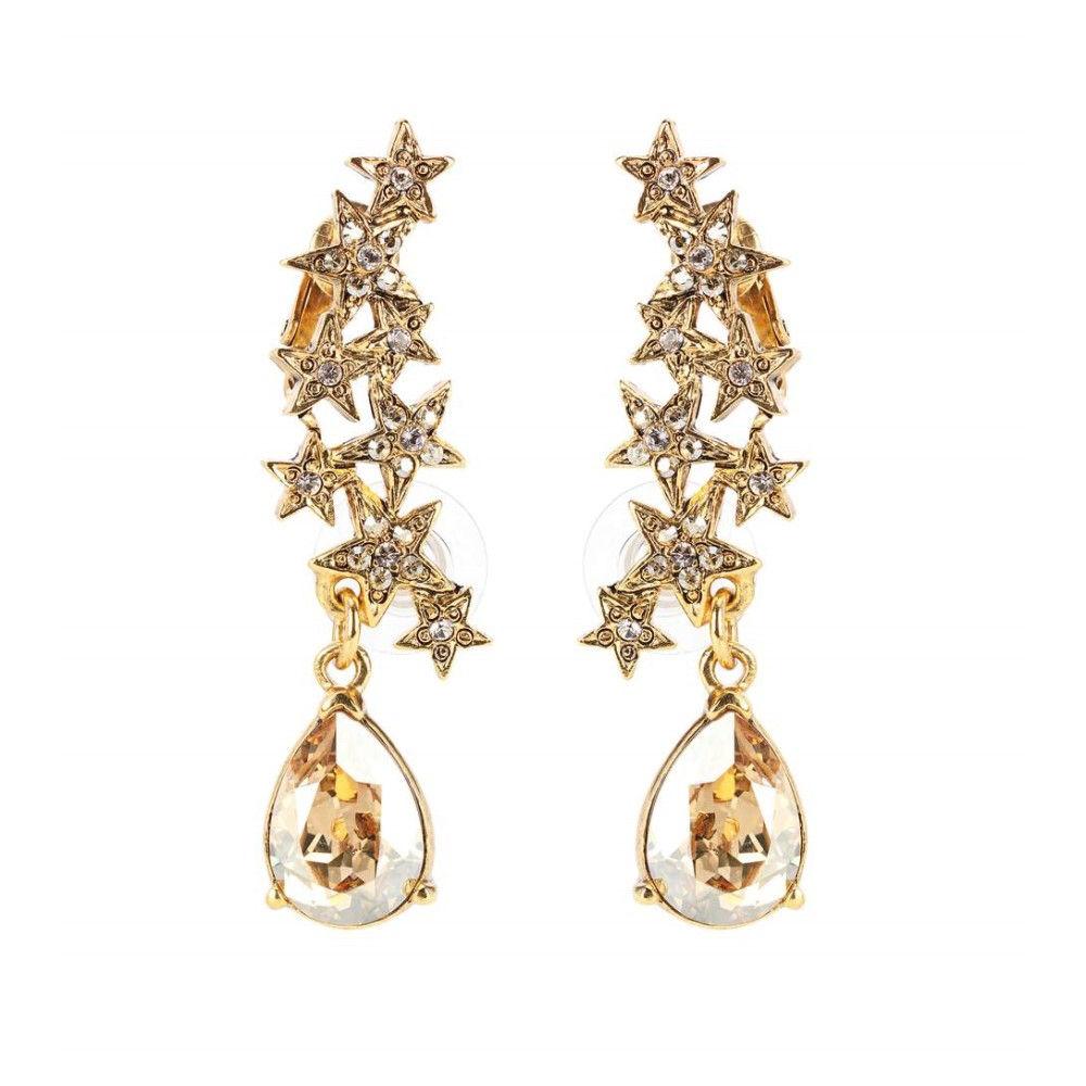 オスカー デ ラ レンタ Oscar de la Renta レディース アクセサリー イヤリング・ピアス【Crystal-embellished earrings】