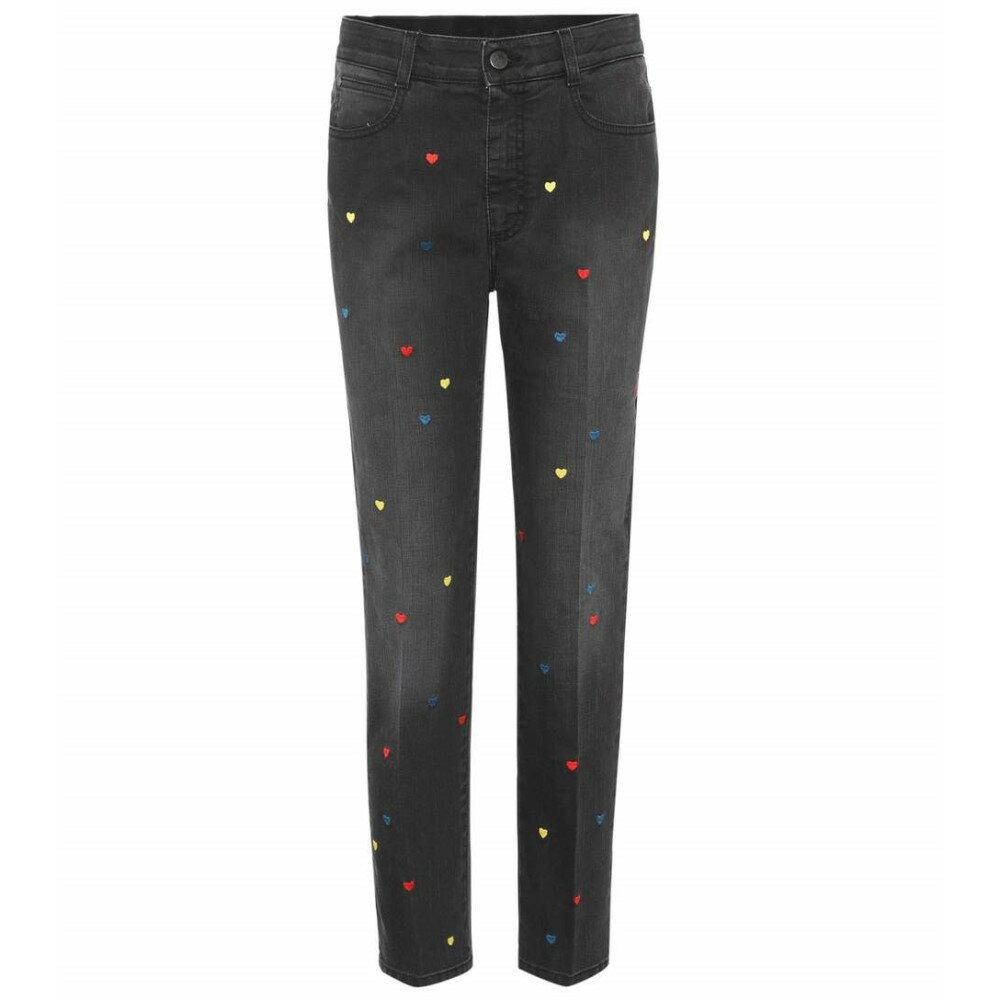 ステラ マッカートニー Stella McCartney レディース ボトムス ジーンズ【High-waisted embroidered cropped jeans】