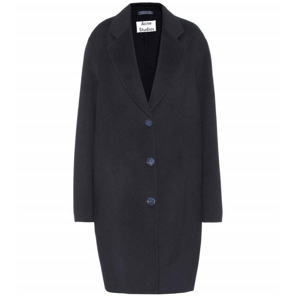 アクネ ストゥディオズ レディース アウター コート【Landi wool and cashmere coat】navy