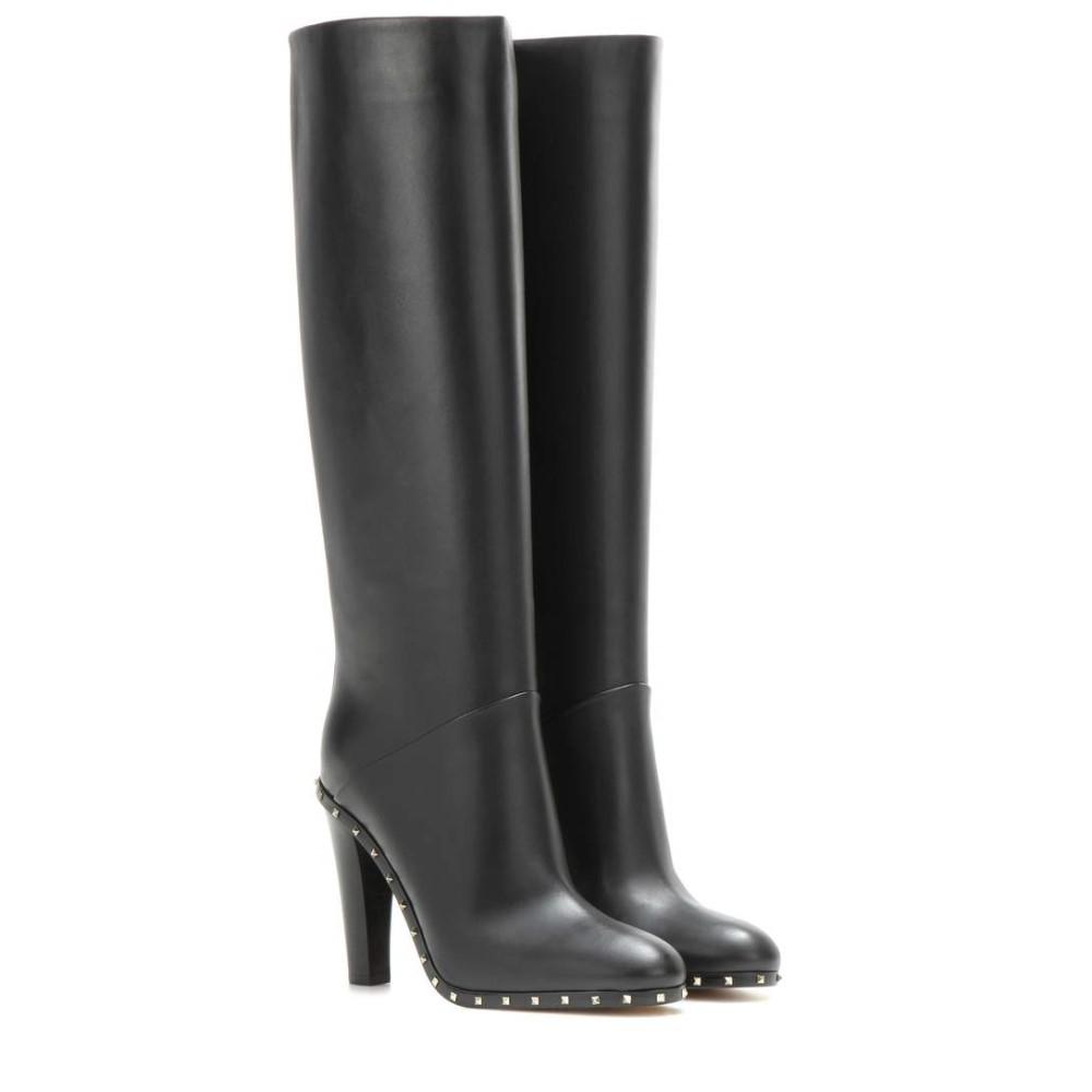 安い価格で ヴァレンティノ Valentino レディース シューズ?靴 ブーツ【Soul Rockstud embellished leather boots】