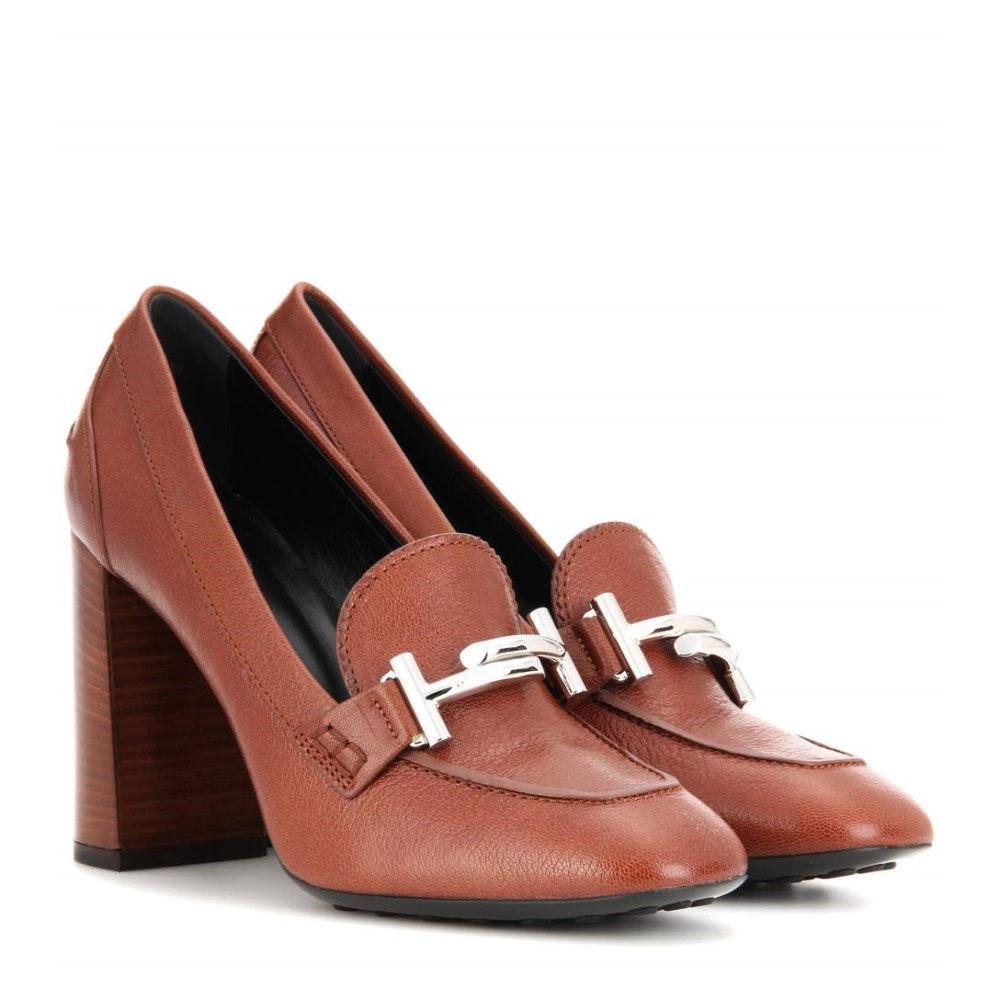 トッズ Tod's レディース シューズ?靴 パンプス【Double T leather loafer pumps】