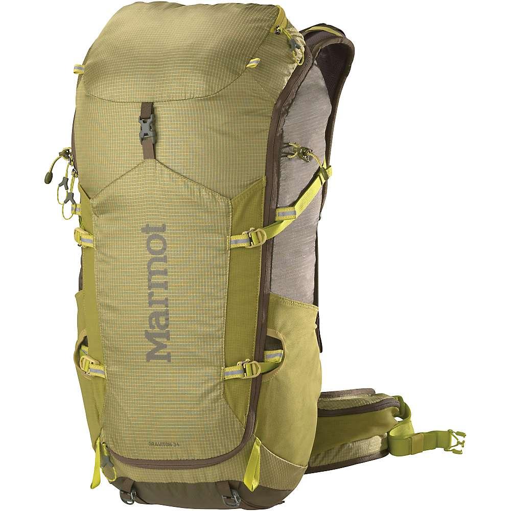 最新入荷 マーモット ユニセックス メンズ レディース ハイキング バッグ【Marmot Graviton 34 Backpack】Citronelle / Olive
