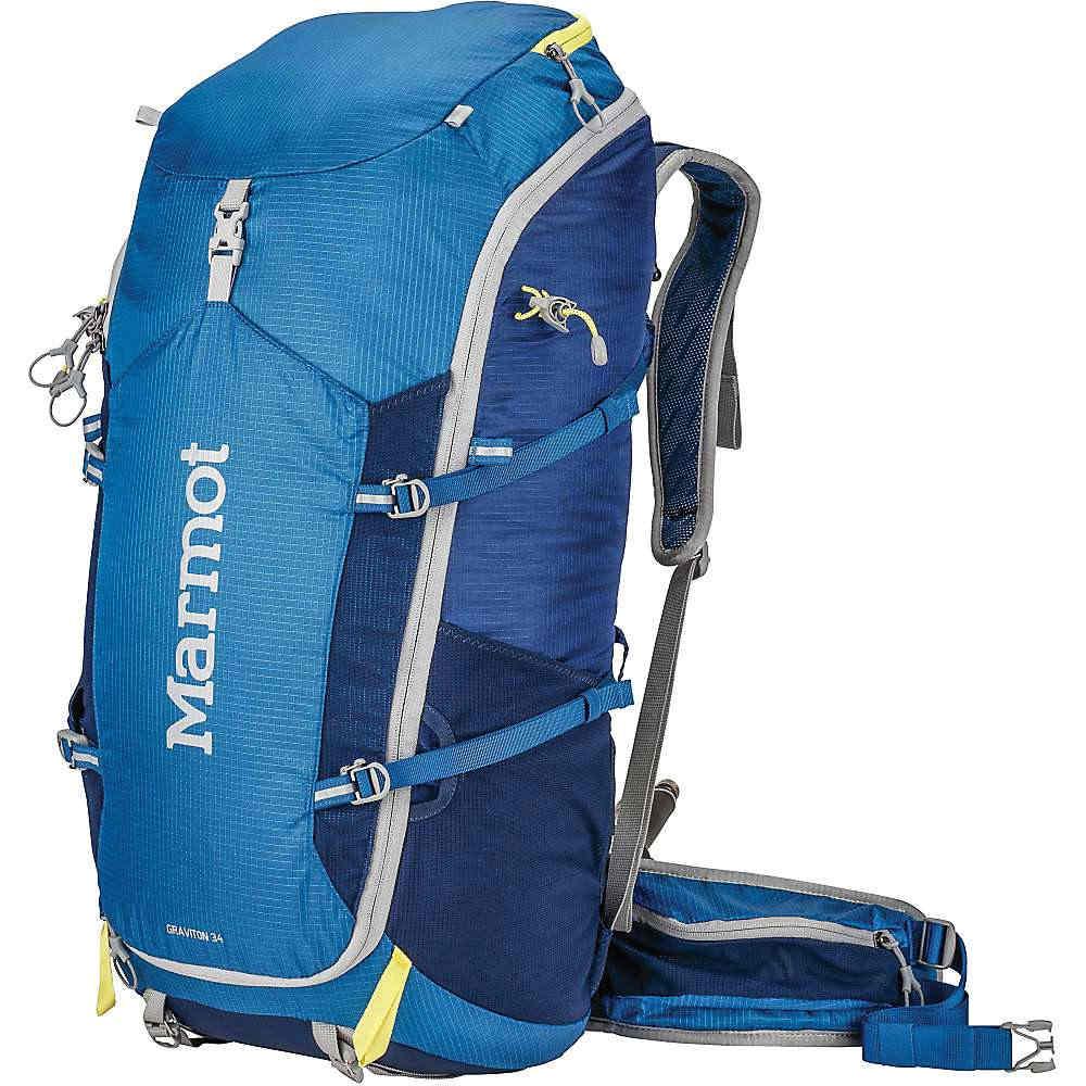 【最安値挑戦中】 マーモット ユニセックス メンズ レディース ハイキング バッグ【Marmot Graviton 34 Backpack】Blue Night / Dark Ink