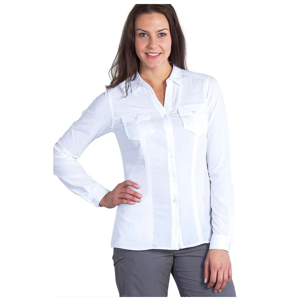 エクスオフィシオ レディース トップス 長袖シャツ【ExOfficio Kizmet LS Shirt】White