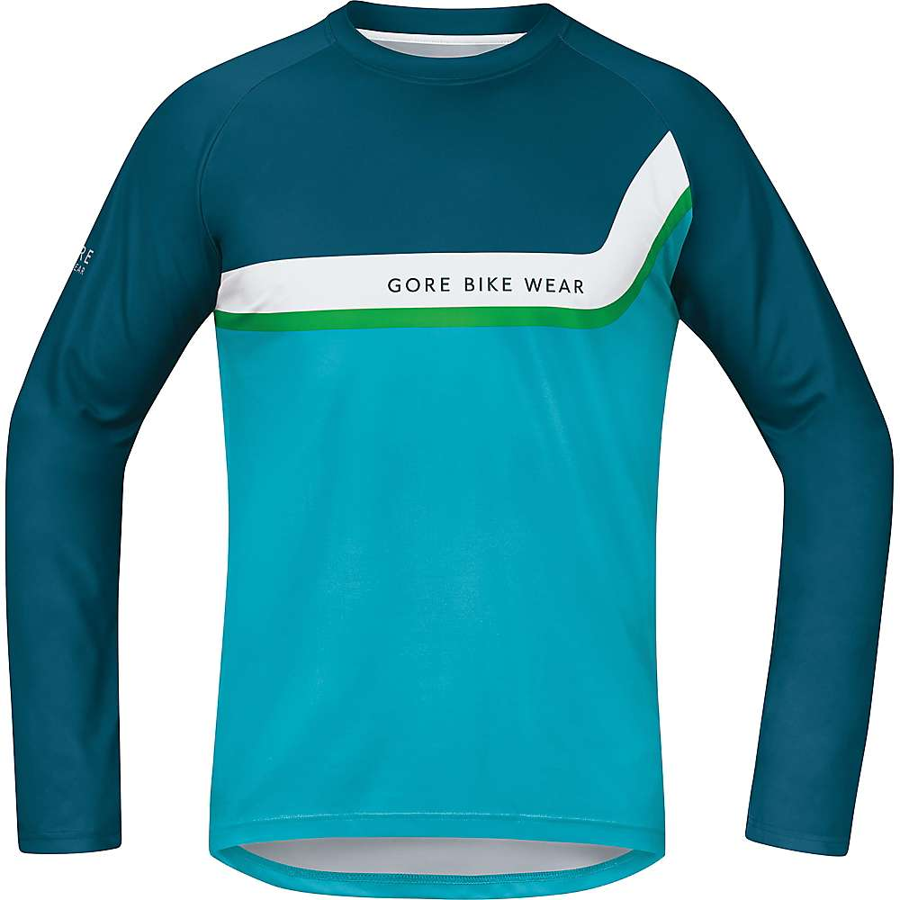 ゴア メンズ トップス 長袖シャツ【Gore Bike Wear Power Trail Long Jersey】Ink Blue / Scuba Blue