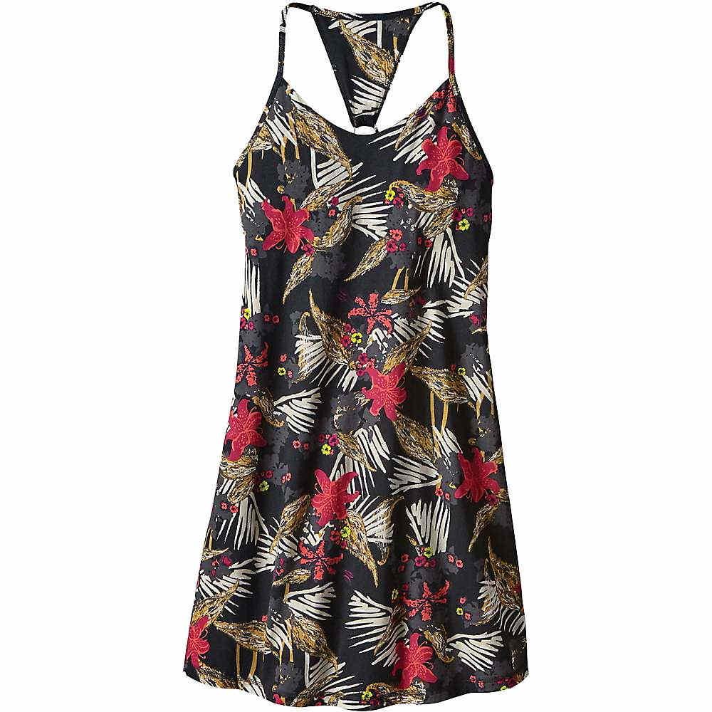 パタゴニア レディース トップス ワンピース【Patagonia Edisto Dress】Kelp Garden / Black