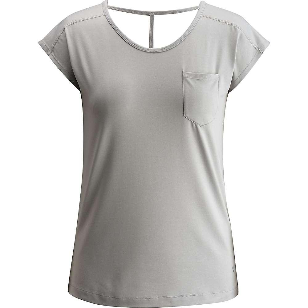 上品 ブラックダイヤモンド レディース トップス Tシャツ【Black Diamond Beta Tee】Aluminum