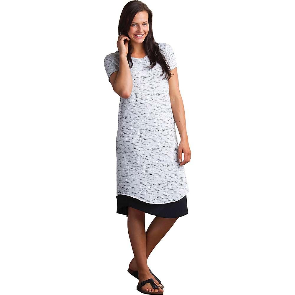 エクスオフィシオ レディース トップス ワンピース【ExOfficio Wanderlux Reversible T-Shirt Dress】Platinum Marl / Black