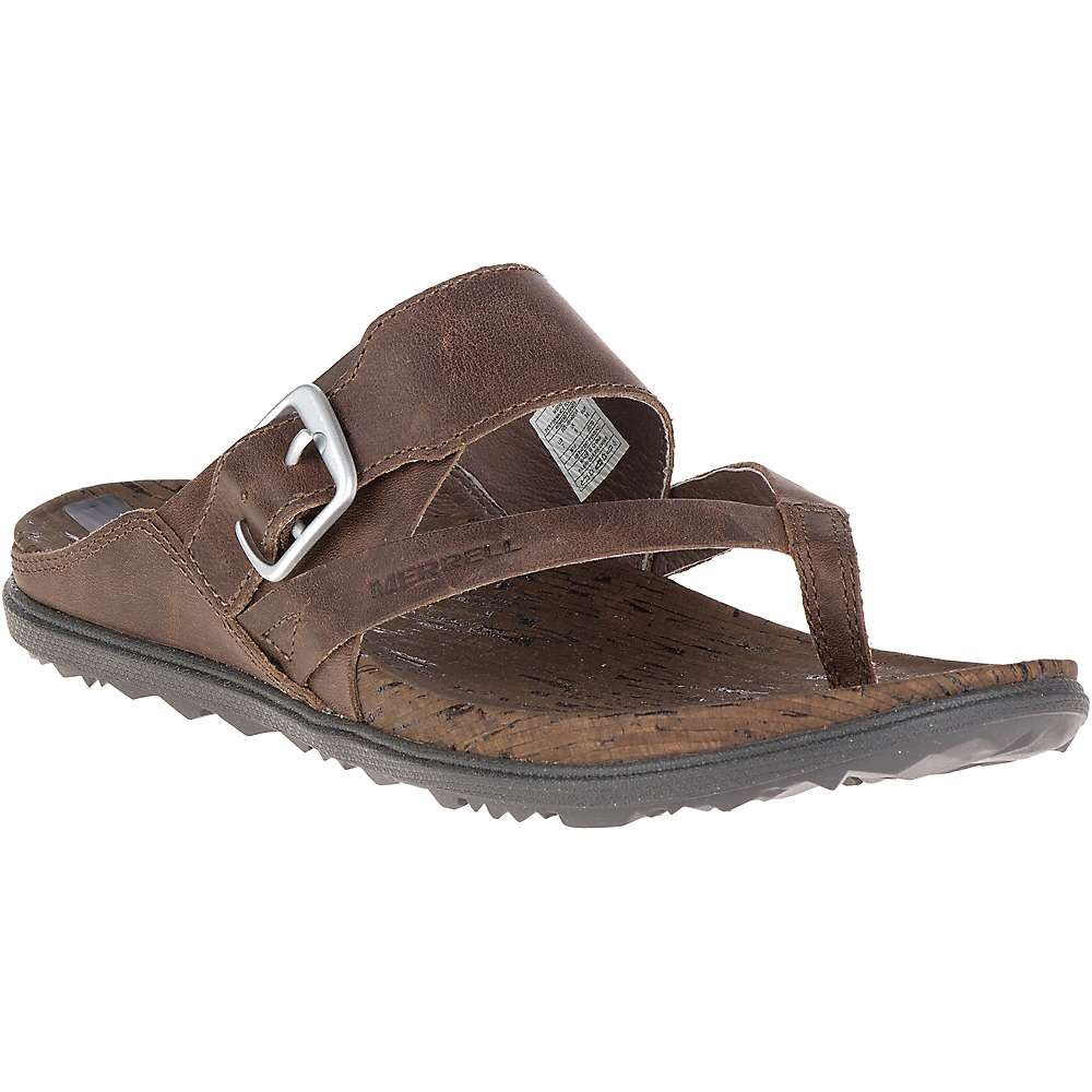 メレル レディース シューズ・靴 サンダル【Merrell Around Town Thong Buckle Sandal】Brown