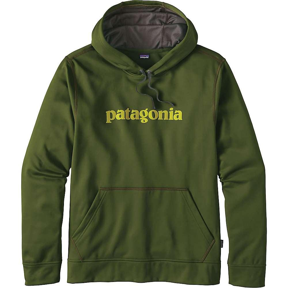 パタゴニア メンズ トップス パーカー【Patagonia Text Logo PolyCycle Hoody】Glades Green