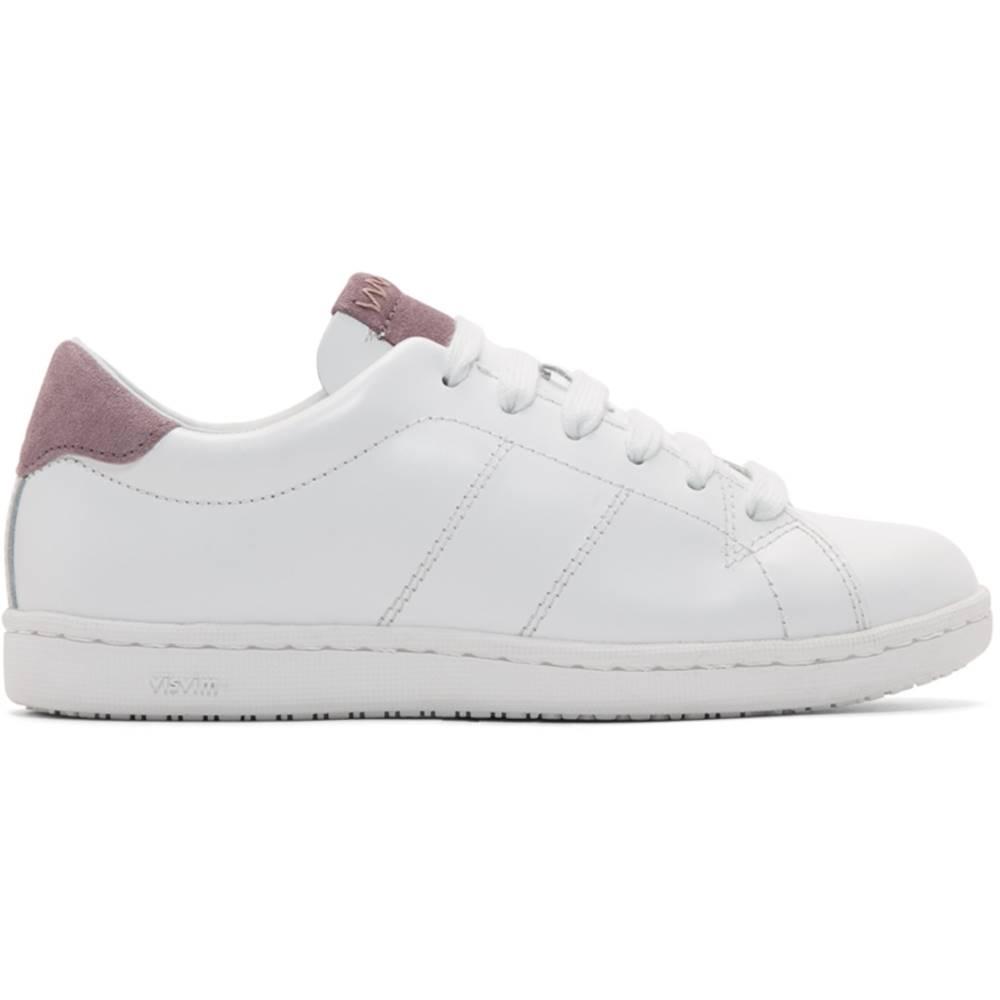 ビズビム レディース シューズ?靴 スニーカー【White & Purple Foley-Folk Sneakers】