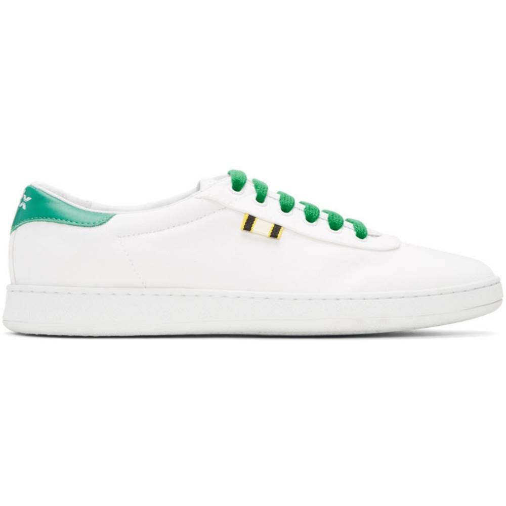アプリ レディース シューズ・靴 スニーカー【White & Green Canvas APR-003 Sneakers】