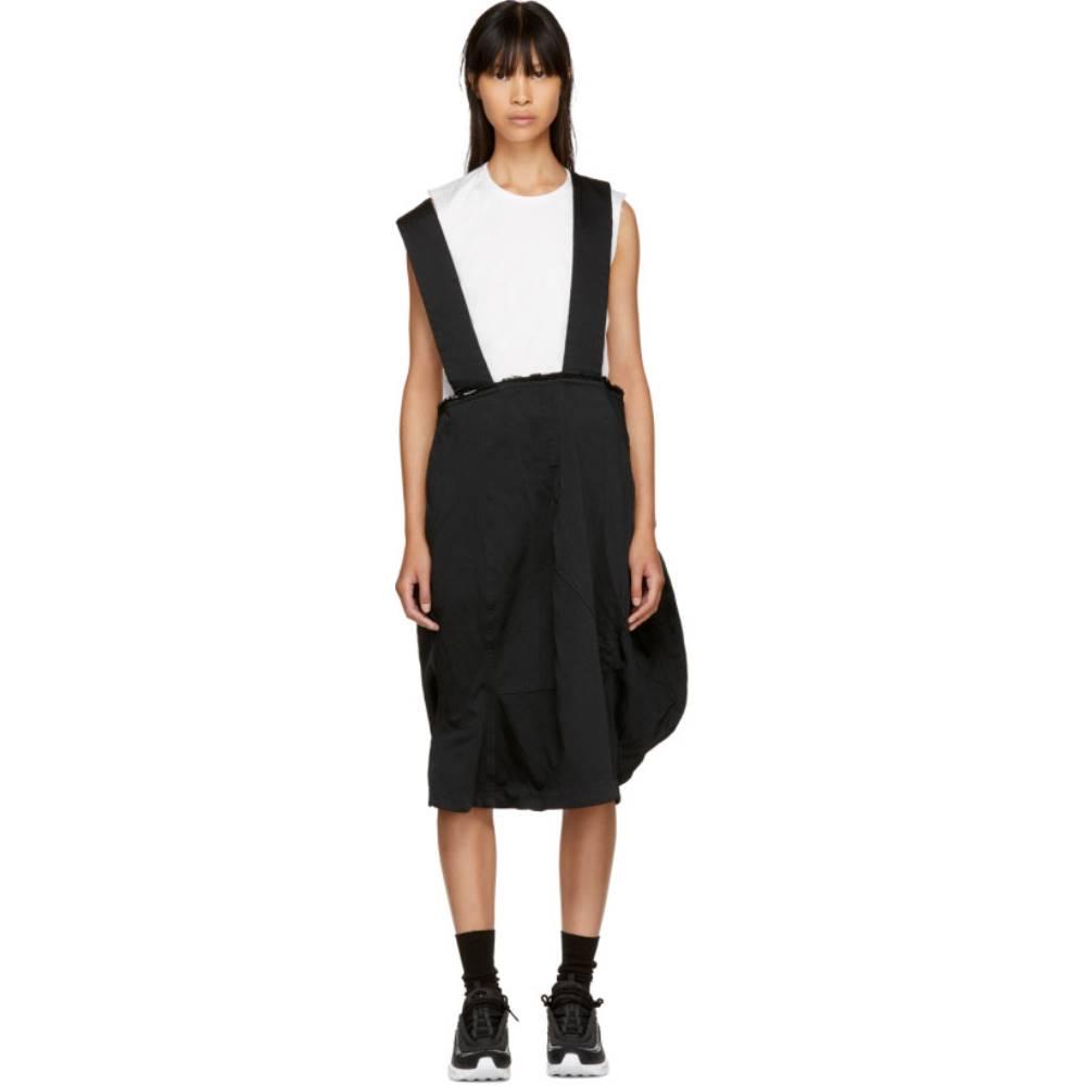 コム デ ギャルソン レディース スカート ひざ丈スカート【Black Crinkled Suspender Skirt】