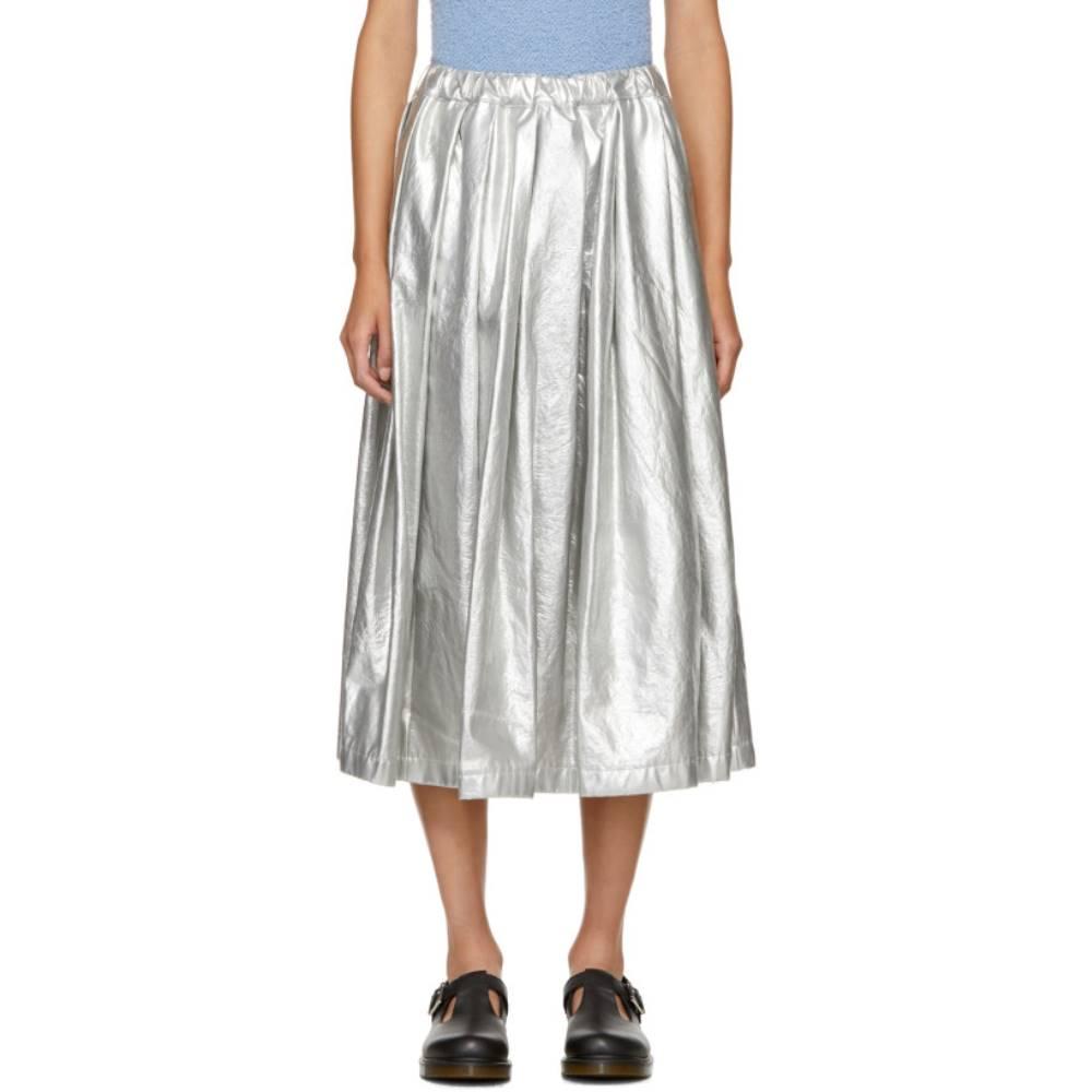 コム デ ギャルソン レディース スカート ひざ丈スカート【Silver Fake Enamel Skirt】