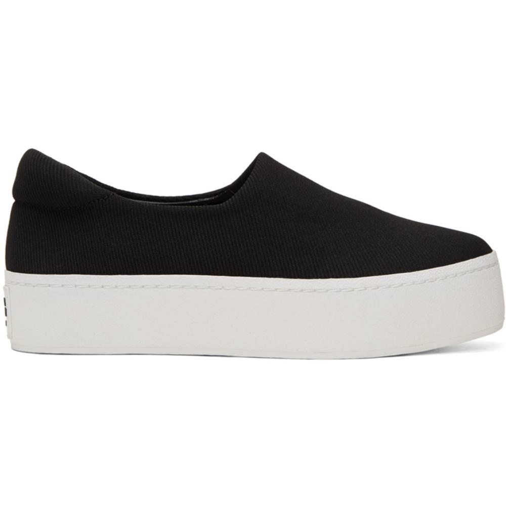 オープニングセレモニー レディース シューズ・靴 スニーカー【Black & White Cici Platform Slip-On Sneakers】