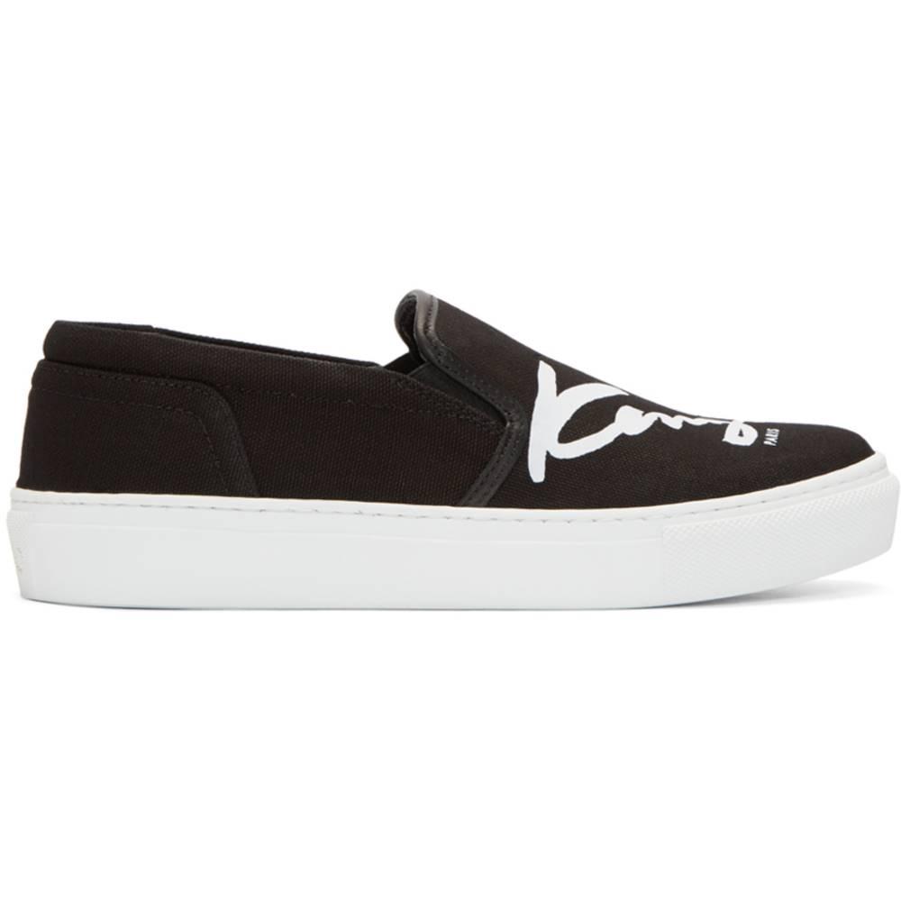 ケンゾー レディース シューズ・靴 スニーカー【Black K-PY Signature Platform Slip-On Sneakers】
