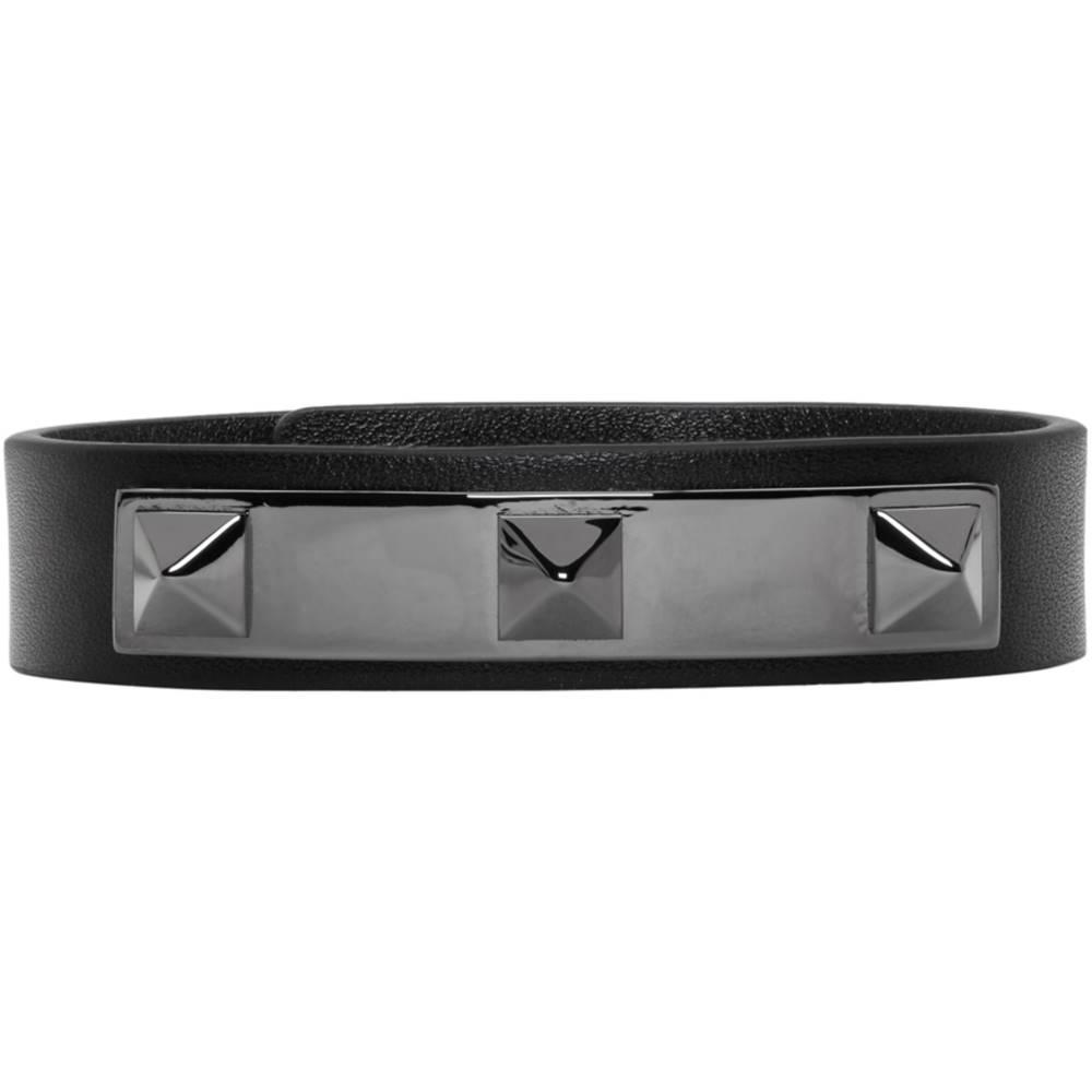 ヴァレンティノ メンズ ジュエリー・アクセサリー ブレスレット【Black Valentino Garavani Three Stud Bracelet】