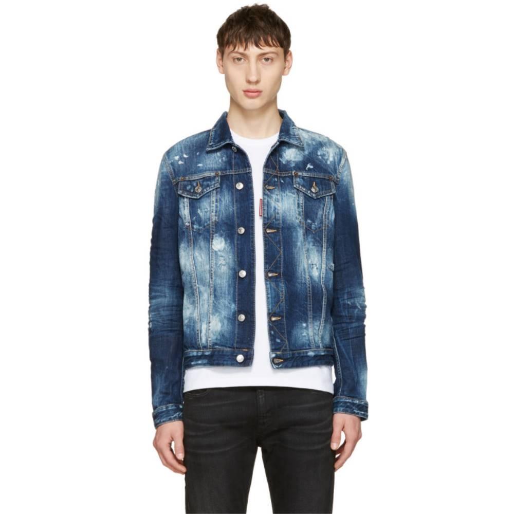 ディースクエアード メンズ アウター ジャケット【Blue Denim Jacket】